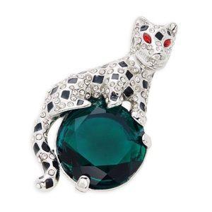NWT Kenneth Jay Lane Moon Cat Pin